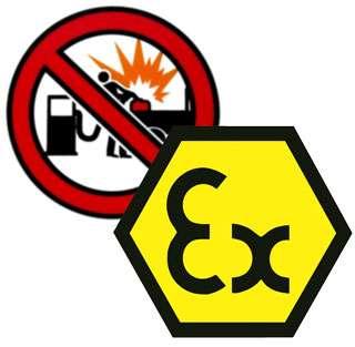 Varning för explosioner