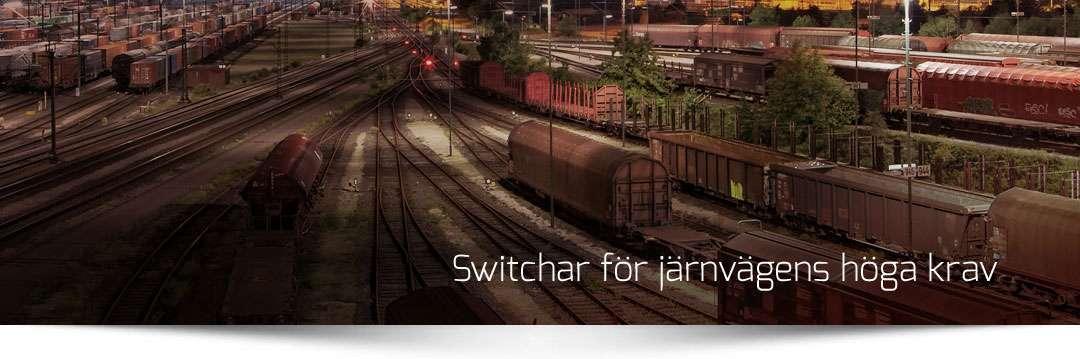 Switchar för järnvägen