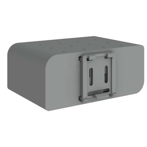 conel-UR5 v2 router plast din-fäste på routerns baksida