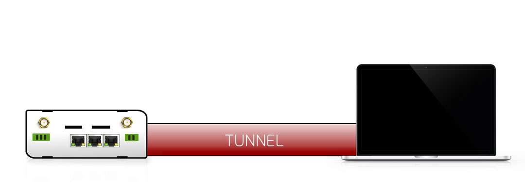 vpn tunnel med klient och server